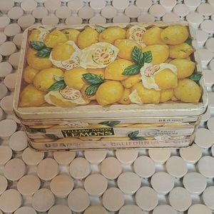 Small Vintage Lemon Crate Tin